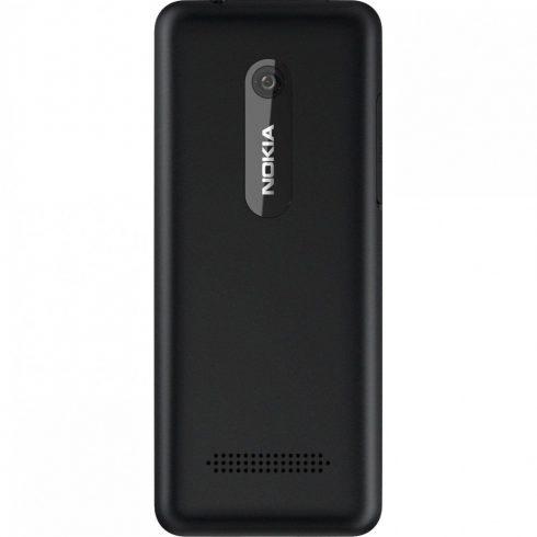 Akkufedél, Nokia Asha 206 Dual Sim (fekete)
