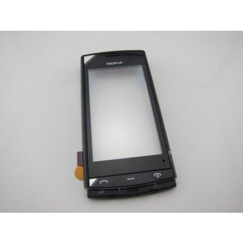 Előlap+érintő, Nokia 500 (fekete) /gy/