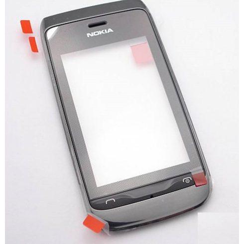 Előlap+érintő, Nokia Asha 305, 306 (szürke)